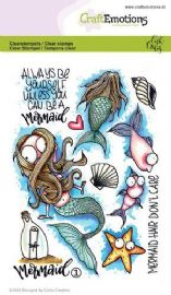 Craft Emotions Clear Stamps A6 - Mermaid 1 - Carla Creaties